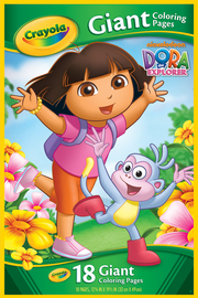 Crayola Giant Colouring Pages Dora The Explorer