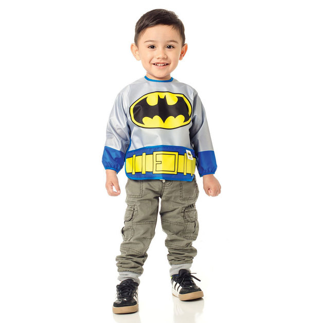 Bumkins Costume Sleeved Bib - Batman
