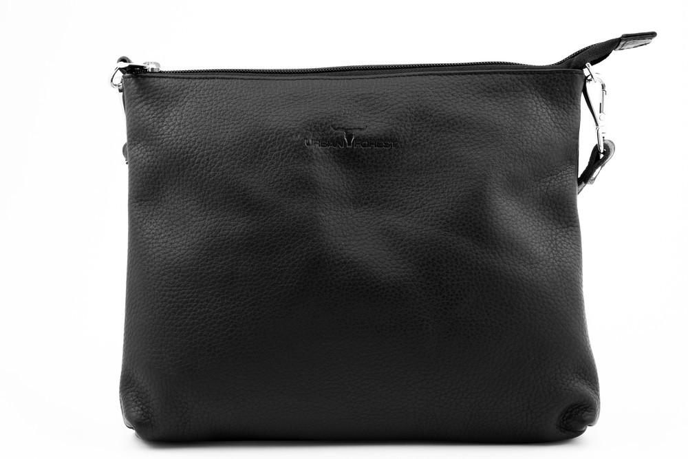 Urban Forest: Emma Leather Sling Bag - Black image