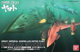 Space Battleship Yamato 2199 Garmillas Ship Set #3 1/1000 Model Kit