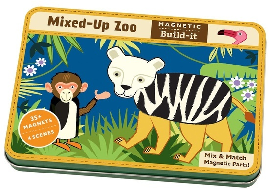 Mixed-Up Zoo Magnetic Building Set