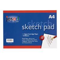 Jasart A4 Sketch Pad- Gummed