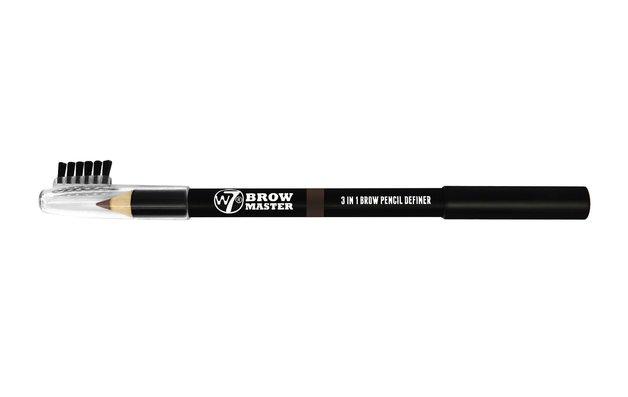 W7 Brow Master 3 in 1 Brow Pencil Definer (Dark Brown)