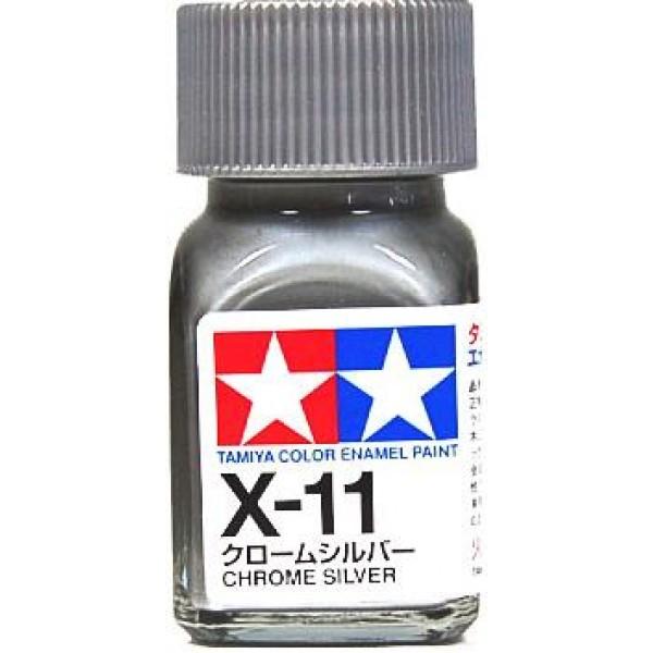 Tamiya Enamel: Chrome Silver (X11)