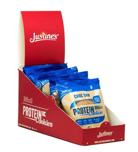 Justine's Mini Protein Cookies - Chocolate Chip (10 x 25g) image