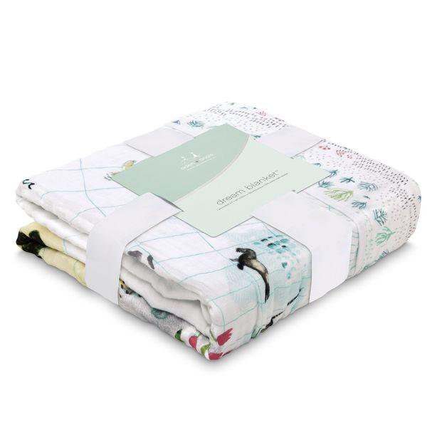 Aden + Anais: Classic Dream Blanket - Around The World - Engineered Map