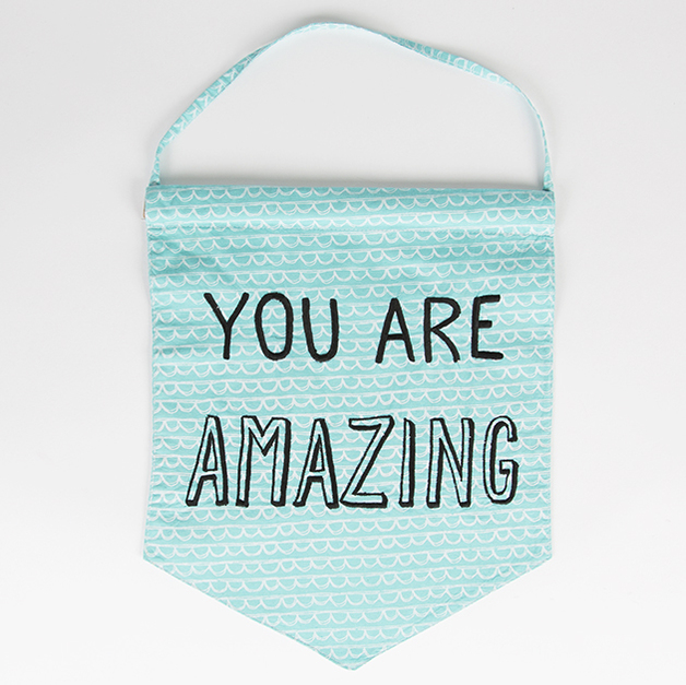 You Are Amazing: You Are Amazing Pastel Message Flag
