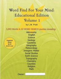 Word Find for Your Mind by L M Pratt