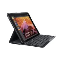 Logitech iPad Slim Folio: Case with Wireless Keyboard with Bluetooth (Black) - iPad 5th and 6th generation