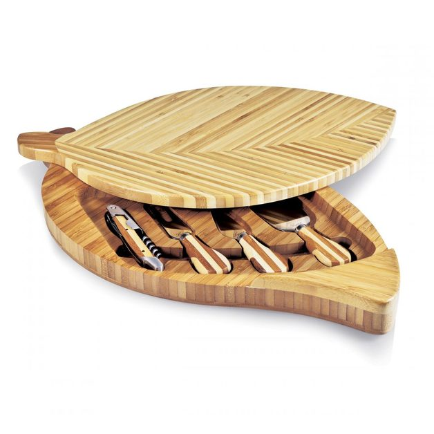 Picnic Time: Leaf Cheese Board & Tools Set