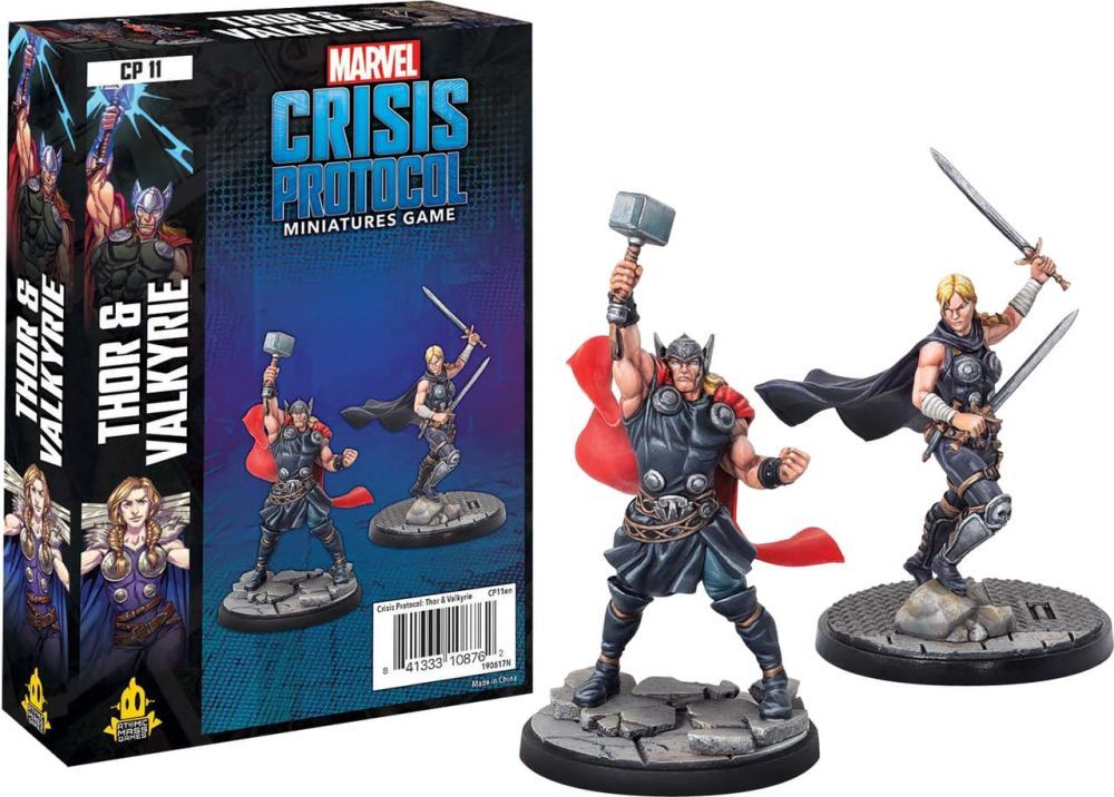 Marvel Crisis Protocol Miniatures Game Thor and Valkyrie Expansion image