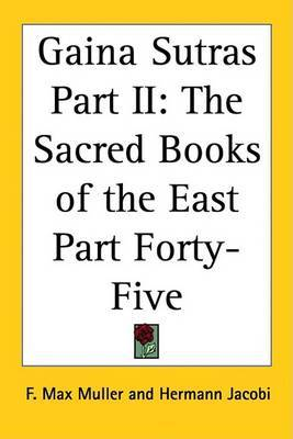 Gaina Sutras Part II: The Sacred Books of the East Part Forty-Five image