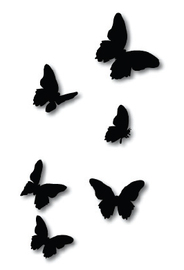 Crystal Ashley Flying Butterflies - Black ACM