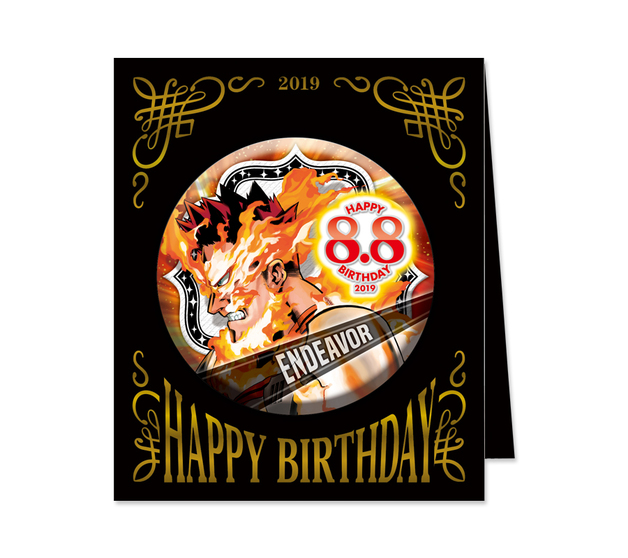 My Hero Academia: Birthday Can Badge - Endeavor