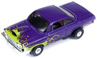 Auto World ThunderJet Ultra-G R8 '62 Chevy Bel Air Slot Car - Purple with Flames