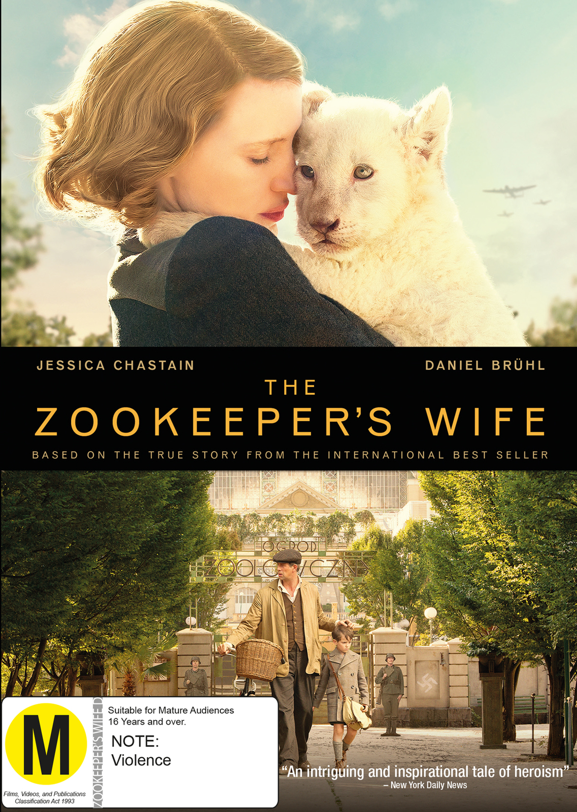 The Zookeepers Wife on DVD image