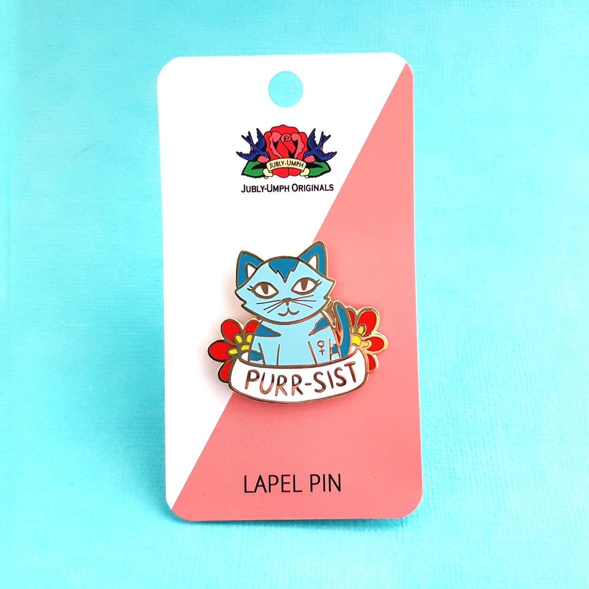 Jubly-Umph Purr-sistence Kitty Lapel Pin image