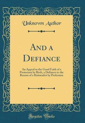 And a Defiance by Unknown Author image