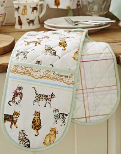 Cats On Parade Double Oven Gloves image