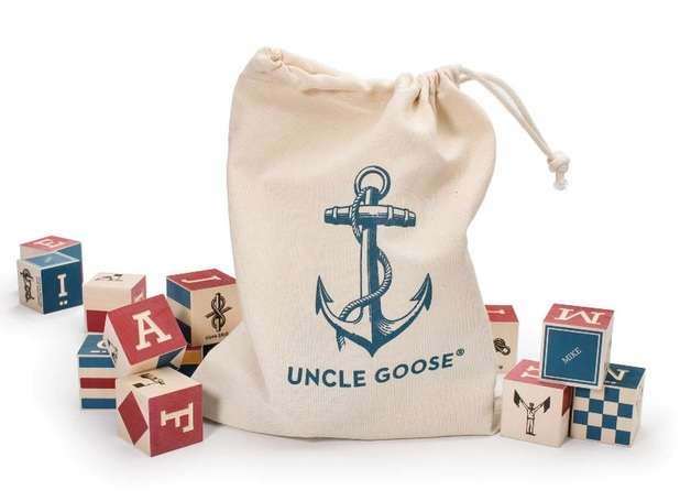 Uncle Goose: Nautical Blocks with flag signs (26pc)