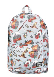 Loungefly: Harry Potter - Relics Tattoo Print Backpack