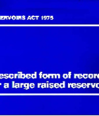 Prescribed Form of Record for a Large Raised Reservoir image