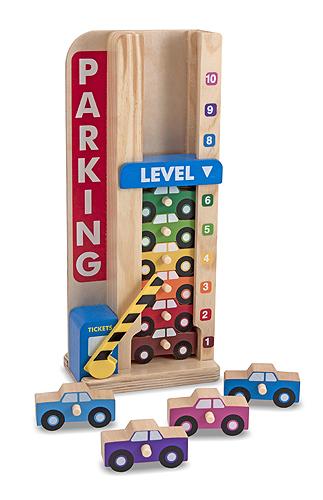 Melissa & Doug: Wooden Stack & Count Parking Garage