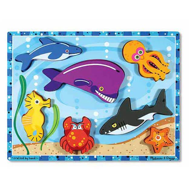 Melissa & Doug - Sea Creatures Chunky Puzzle