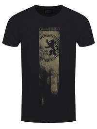 Game of Thrones: Lannister Flag - Hear Me Roar T Shirt (XL)
