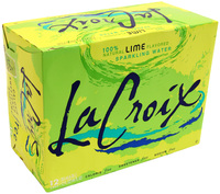 La Croix Sparkling Water - Lime 355ml Can (12 Pack)