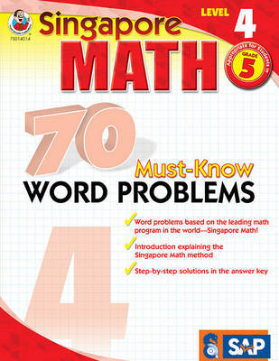 70 Must-Know Word Problems, Grade 5 image