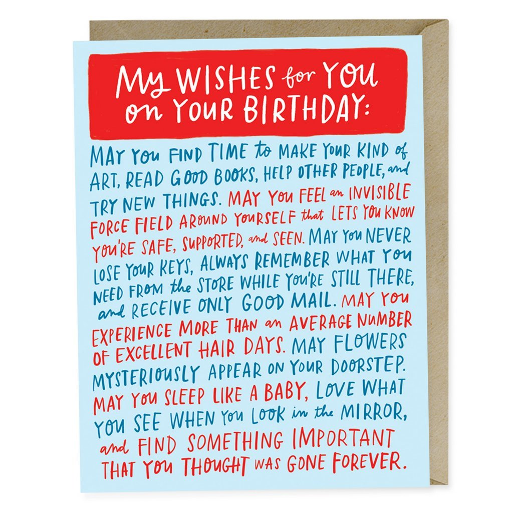 Emily McDowell: My Wishes For You On Your Birthday - Greeting Card image