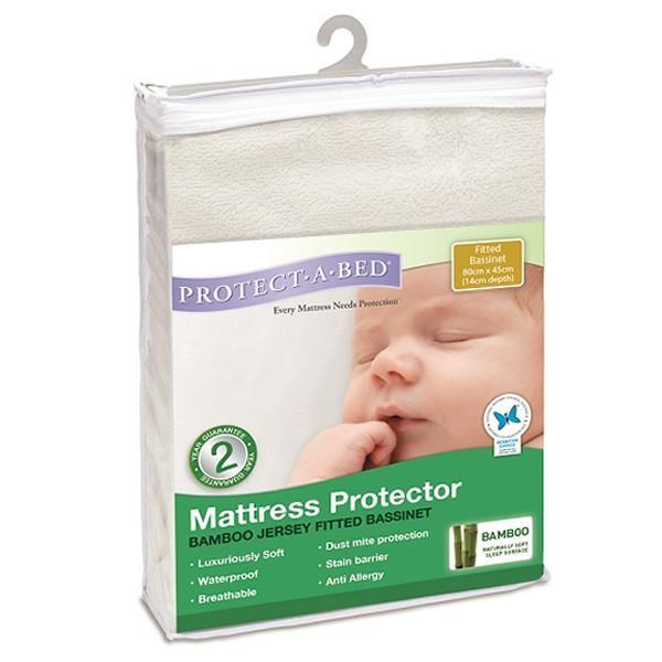 Protect-a-Bed: Bamboo Fitted Jersey Bassinet Mattress Protector image