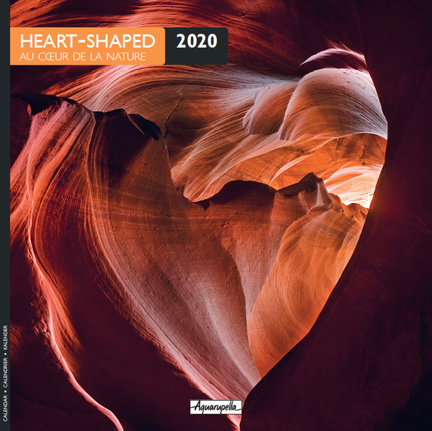 Aquarupella: 2020 Wall Calendar - Heart Shaped
