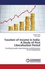Taxation of Income in India by Rani Vaneeta