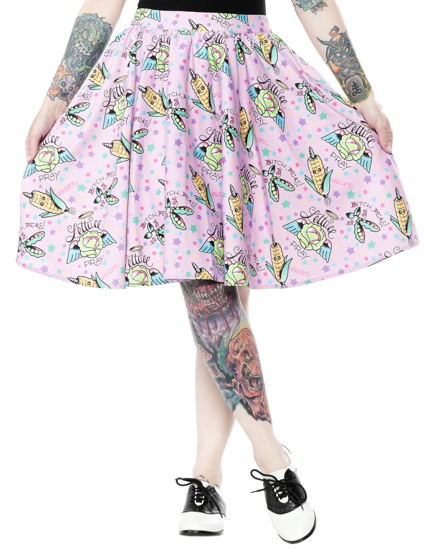 Sourpuss Pun With Food Sweets Skirt (Size XL) image