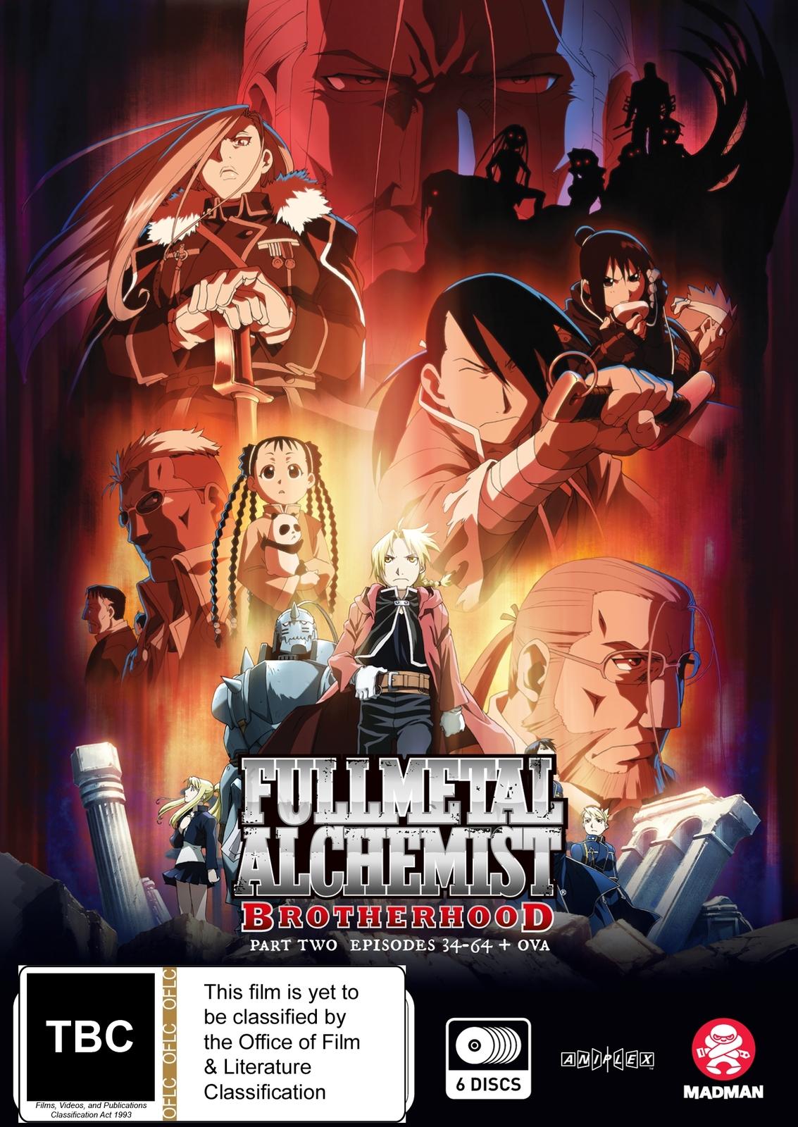 Fullmetal Alchemist: Brotherhood - Part 2 (Eps 34-64 + Ova) on DVD image