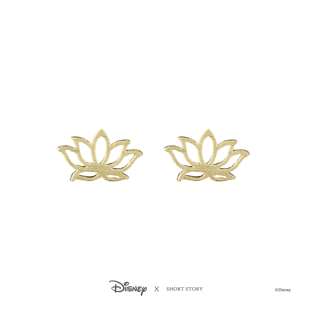 Disney Earring Jasmine Lotus - Gold image