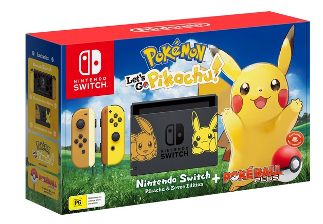 Nintendo Switch Console - Pokemon: Let's Go, Pikachu! for Nintendo Switch