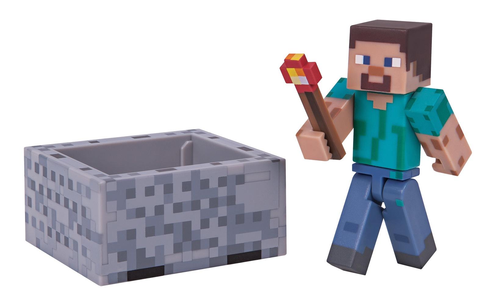 Minecraft: Series 3 Action Figure (Minecart Steve) image