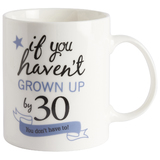 'If you haven't grown up by 30 ..' mug