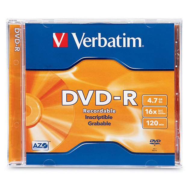 Verbatim DVD-R 4.7GB Jewel Case 16x (1 Pack)