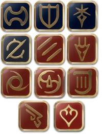 Final Fantasy XIV: Mastering War - Job Pin Set