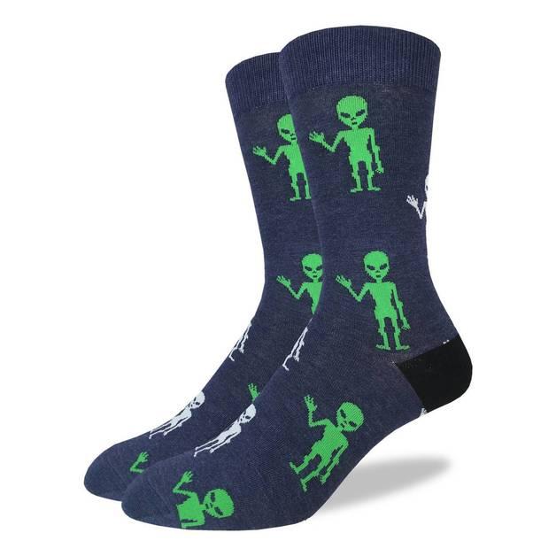 Good Luck Socks: Men's Aliens Socks - Shoe Size 7-12