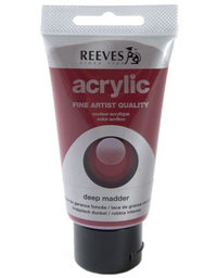 75ml Reeves Fine Acrylic - Deep Madder