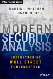 Modern Security Analysis by Martin J Whitman