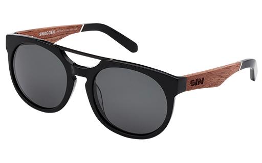 Sin Eyewear: Swagger Sunglasses - Raven Ashwood/