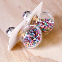 Short Story: Fantasy Bubble Earrings - Confetti Multi