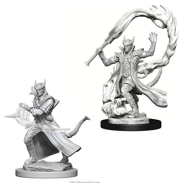 D&D Nolzur's Marvelous: Unpainted Miniatures - Tiefling Male Sorcerer