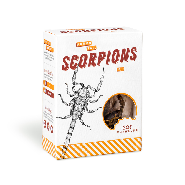 Eat Crawlers: Natural Armor Tail Scorpions (10g)